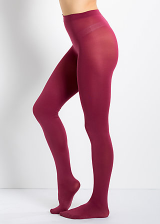 mild tights, deep bordeaux